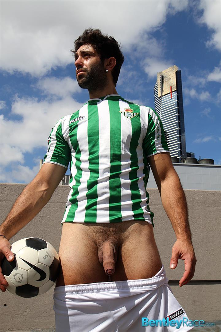 Bentley-Race-Adam-El-Shawar-Middle-Eastern-Soccer-Play-With-A-Huge-Uncut-Cock-Amateur-Gay-Porn-15 Straight Middle Eastern Soccer Player Jerking His Big Uncut Cock