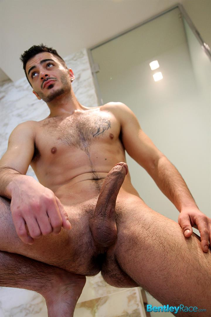 Bentley-Race-Aro-Damacino-Big-Arab-Cock-Masturbation-Bareback-Sex-Party-Amateur-Gay-Porn-14 Muscular Middle Eastern Hunk Strokes His Big Arab Cock
